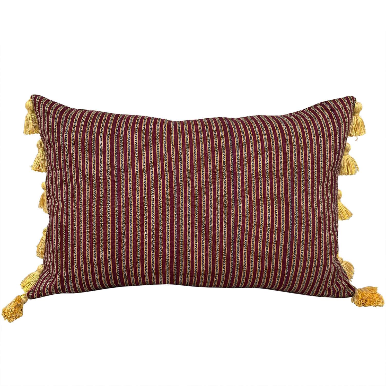 Claret Ewe cushion with tassels
