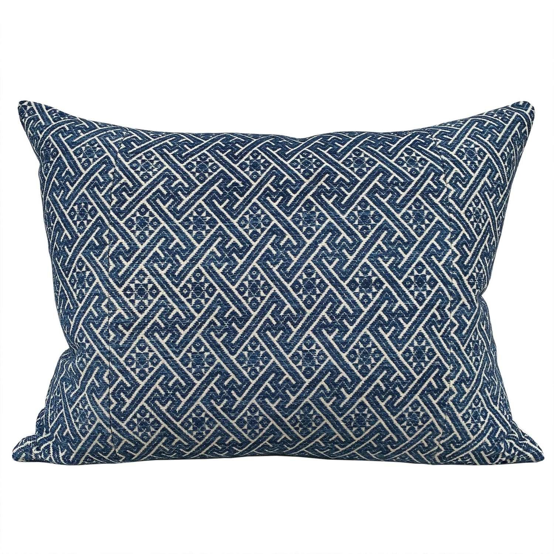 Large indigo Zhuang cushions