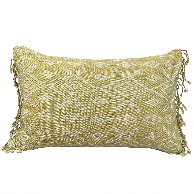 Yellow Rote ikat cushions
