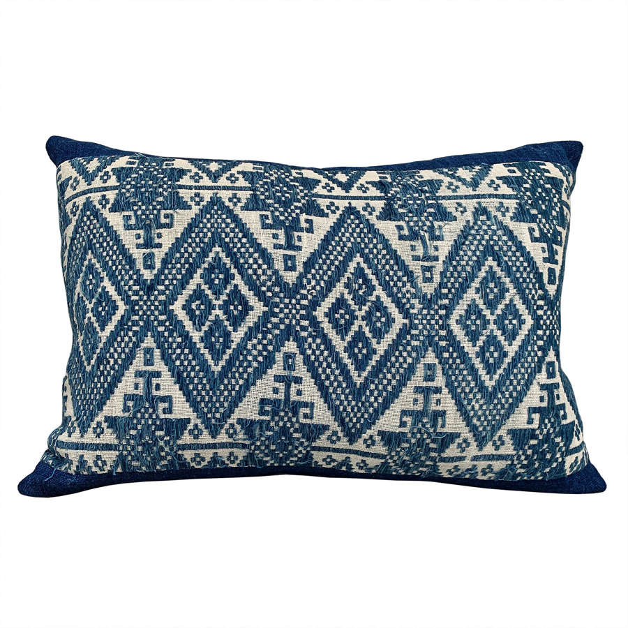 Lao indigo cushion