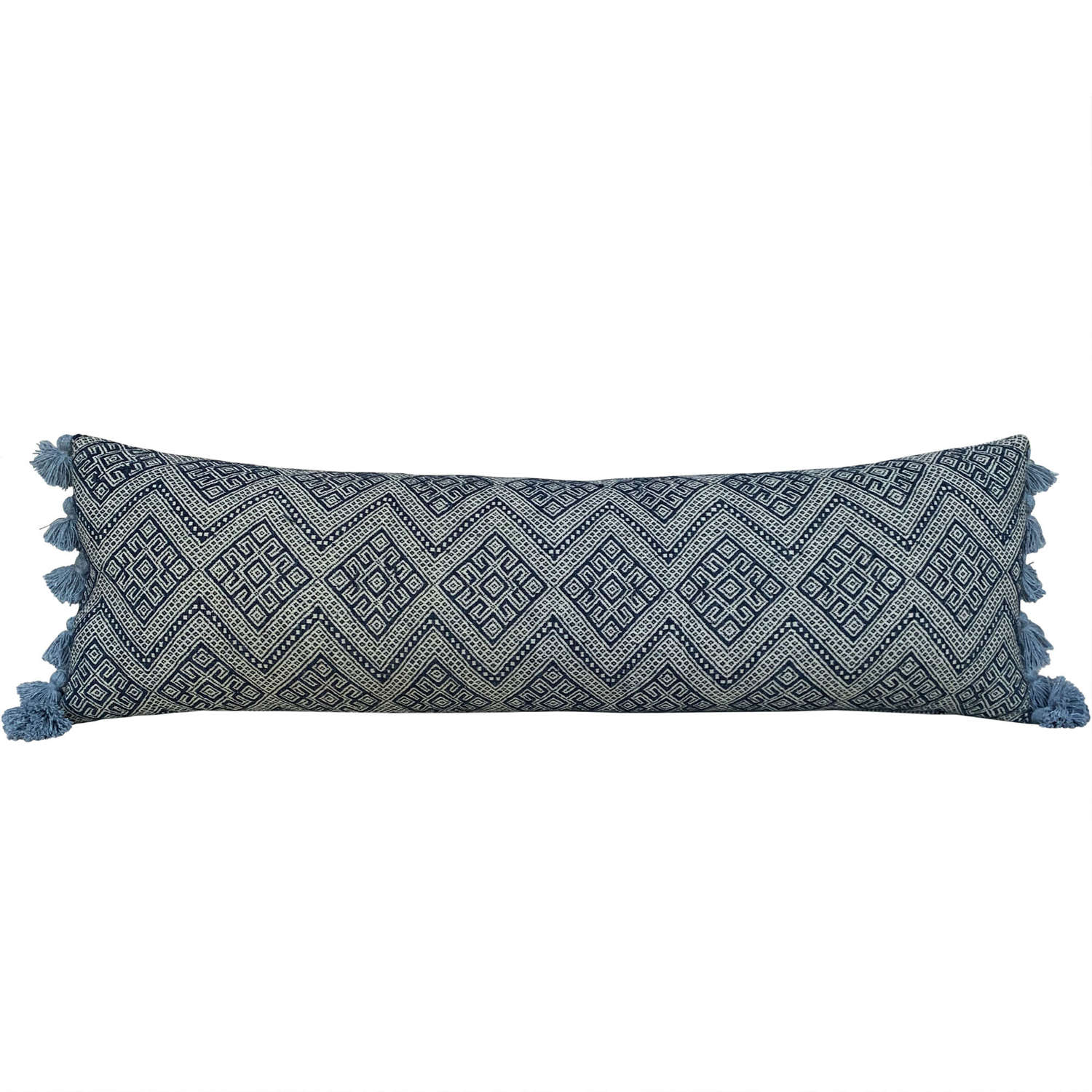 Long Zhuang cushion with tassels