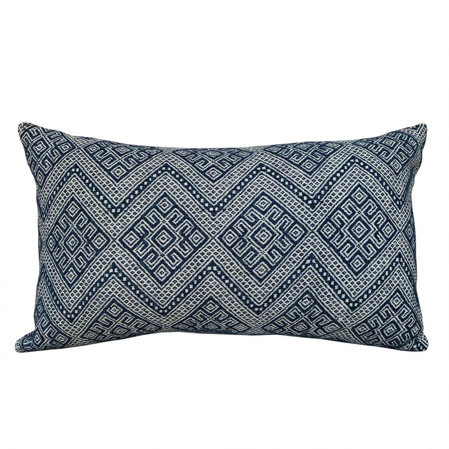 Indigo wedding blanket cushions