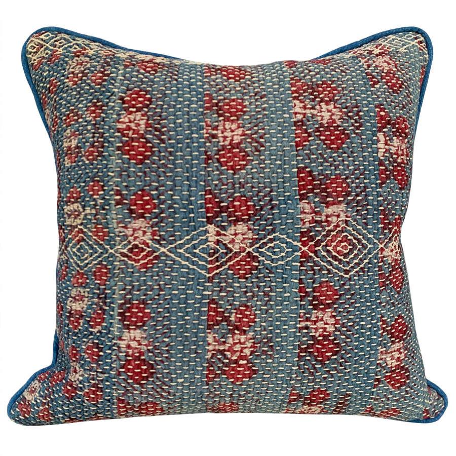 Pale indigo Banjara cushions
