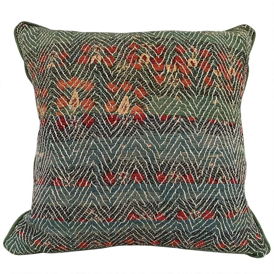 Large green Banjara cushions
