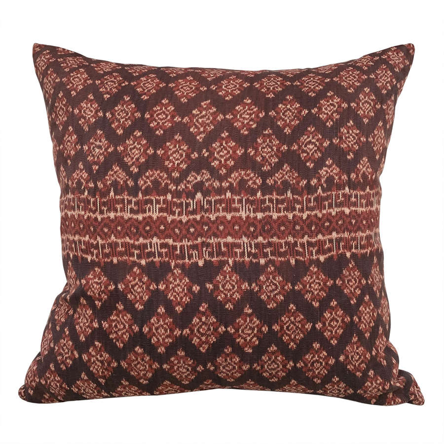Large Flores ikat cushions