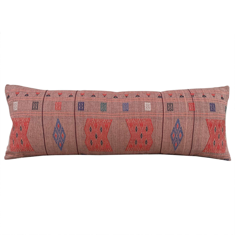 Coral pink Naga cushions