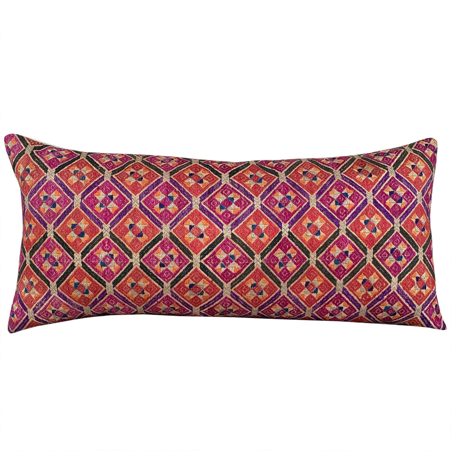 Coral and pink Zhuang cushions