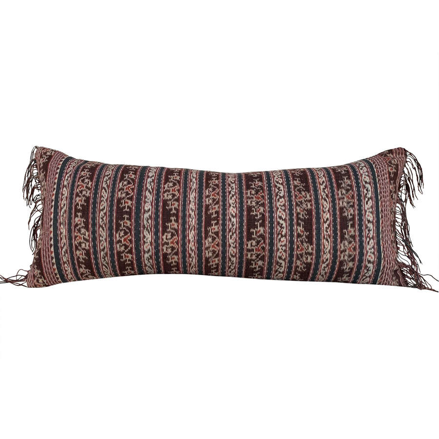 Savu ikat cushion with fringed ends