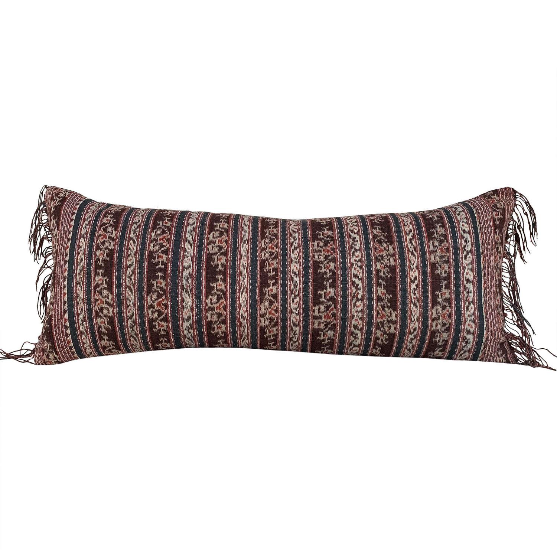Savu ikat cushion with fringed ends