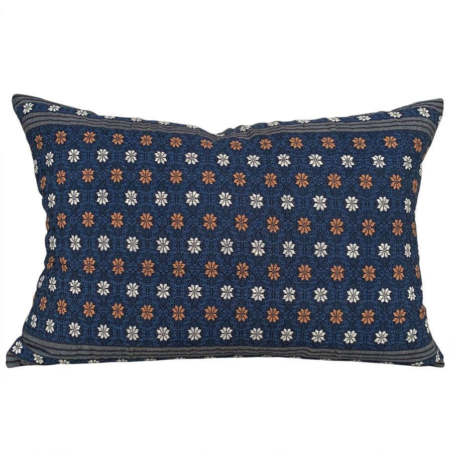 Laos indigo cushions