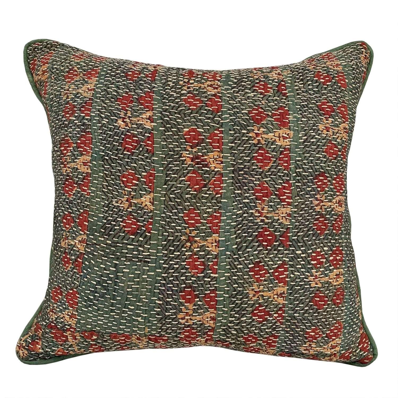 Green Banjara cushions