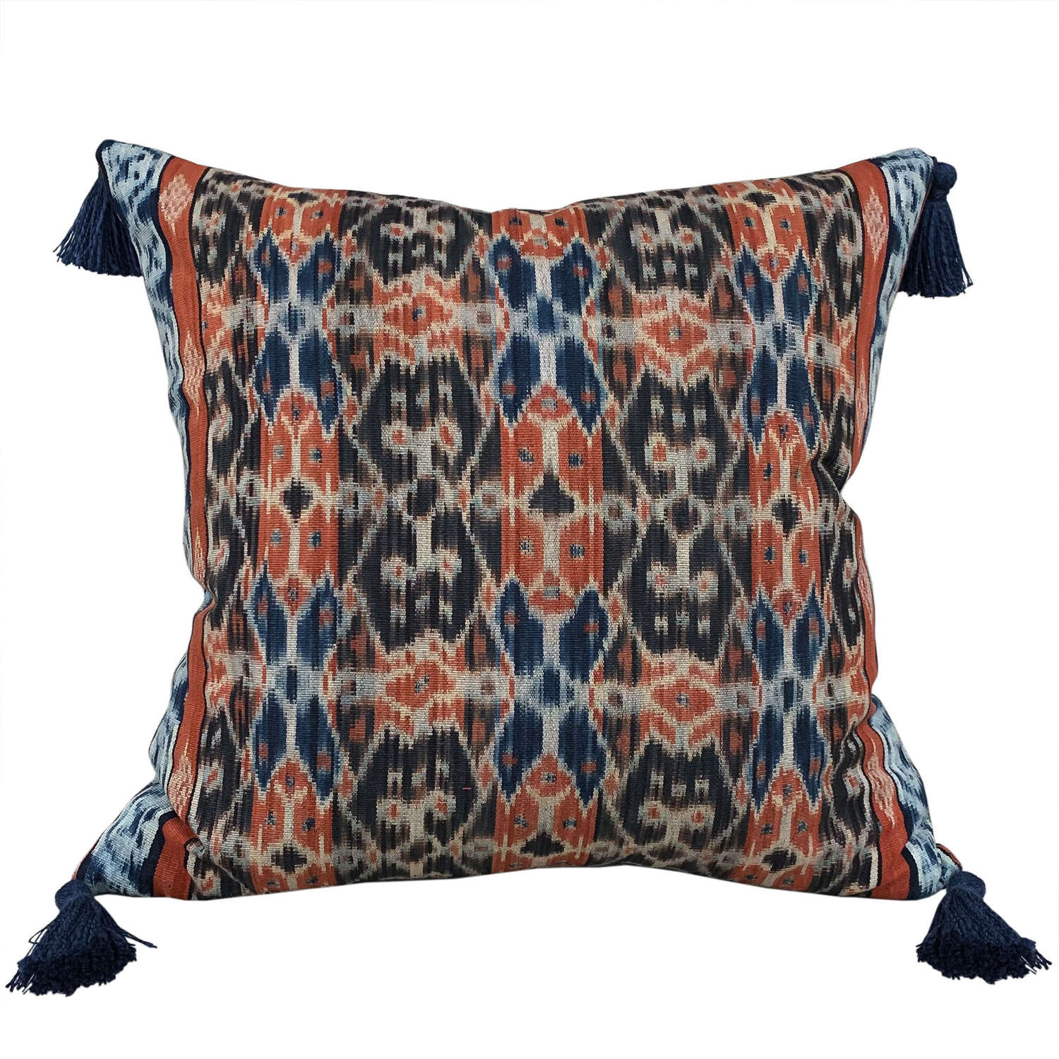 Sumba ikat cushions with tassels