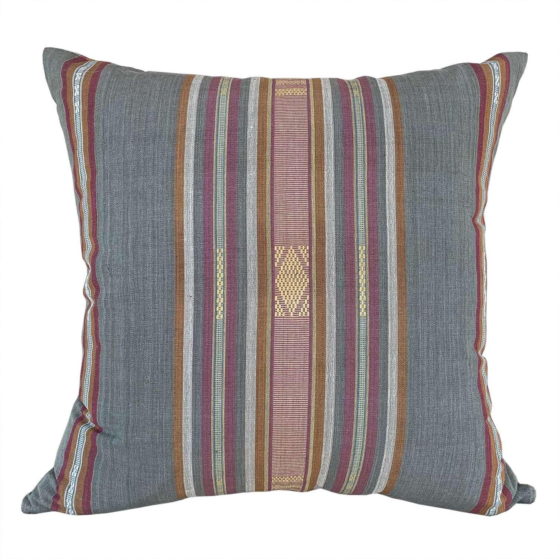 Lombok cushions grey stripe