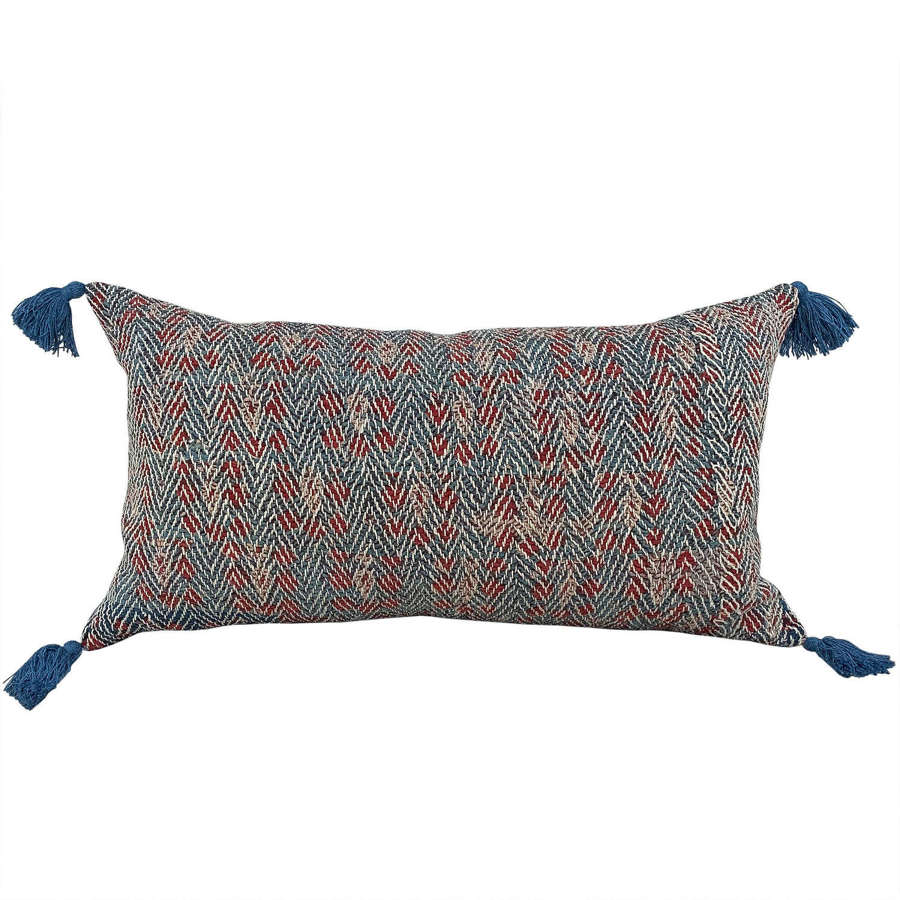 Banjara cushion with tassels