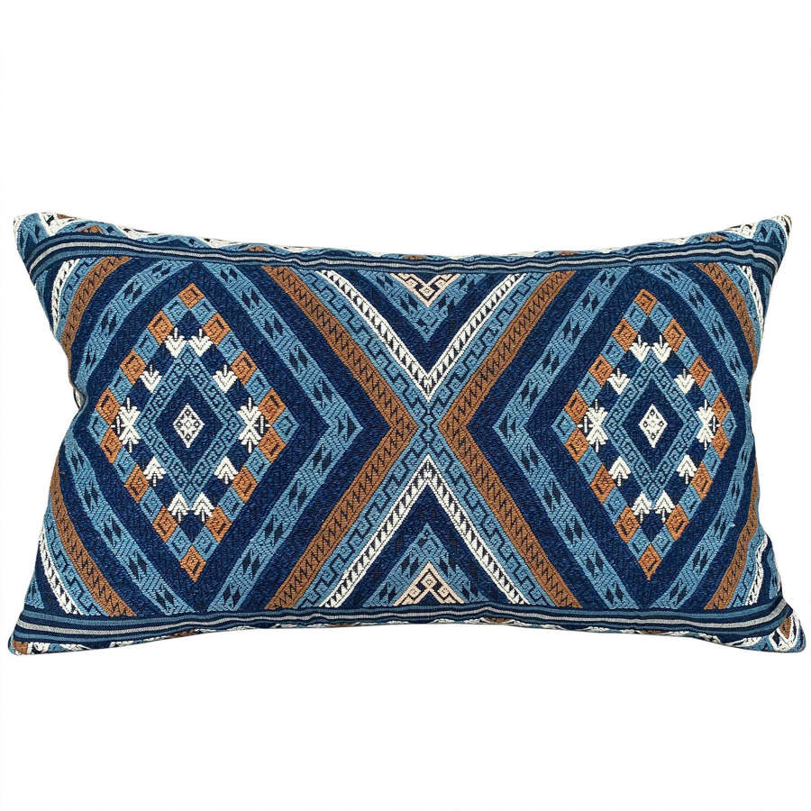 Indigo Lao handwoven cushions