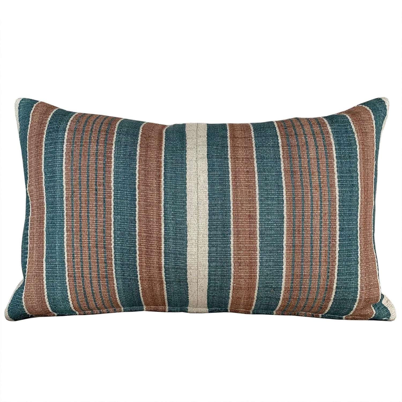 Handwoven hemp cushion