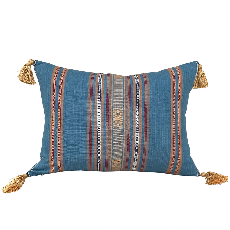 Lombok cushions in light blue