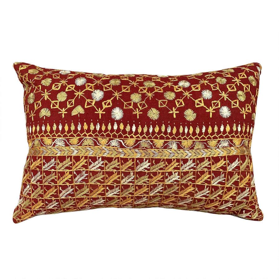 Butti phulkari cushion