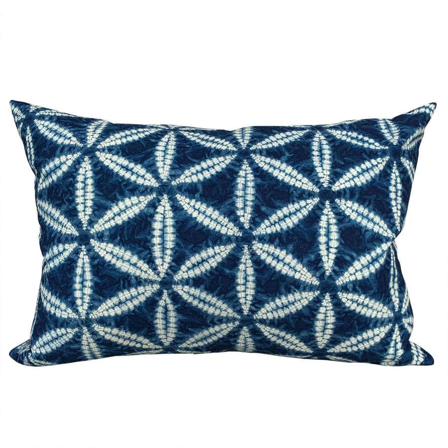 Bai indigo shibori cushions