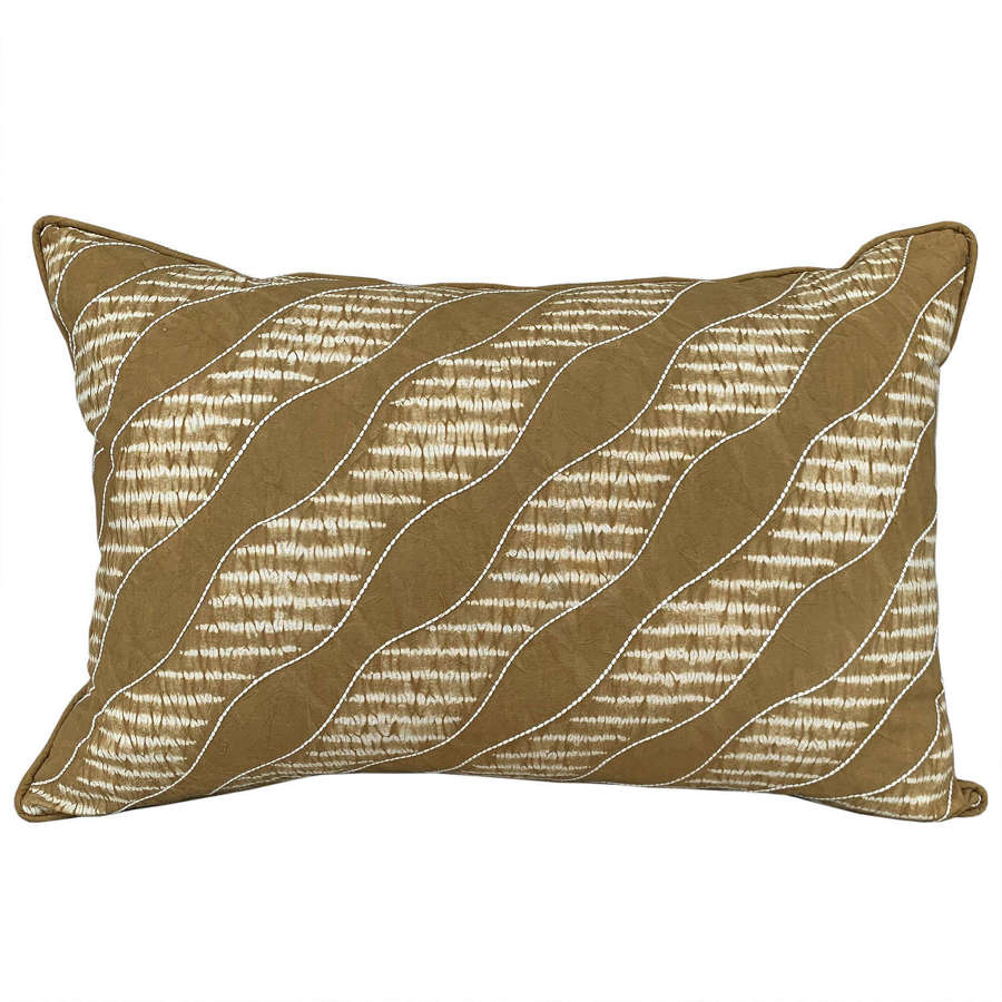 Bai mustard shibori cushions