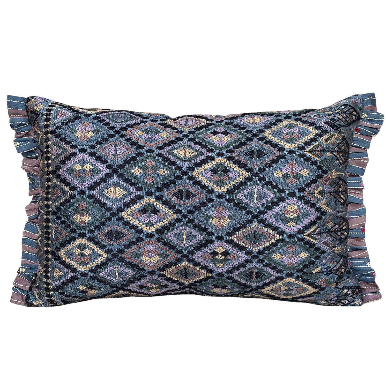 Lao silk cushions, lavender