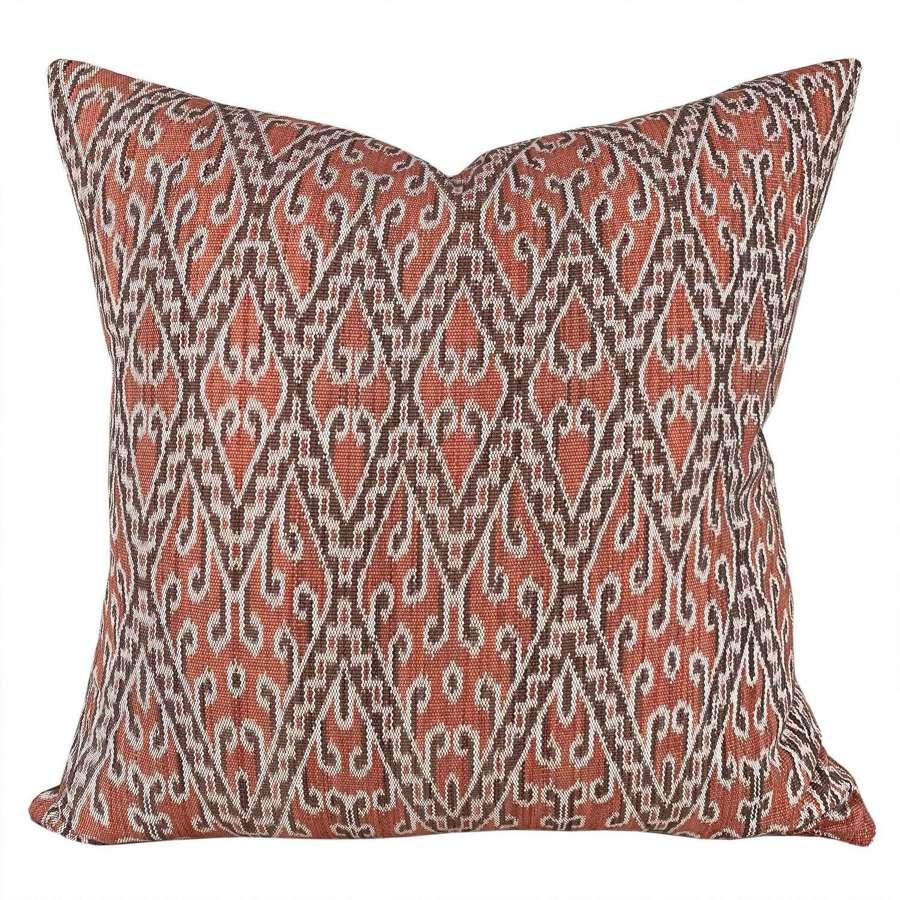 Coral Dayak handwoven cushions