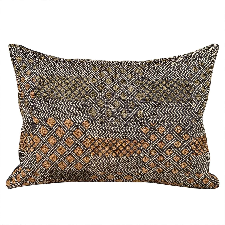 Unusual Kuba cloth cushion