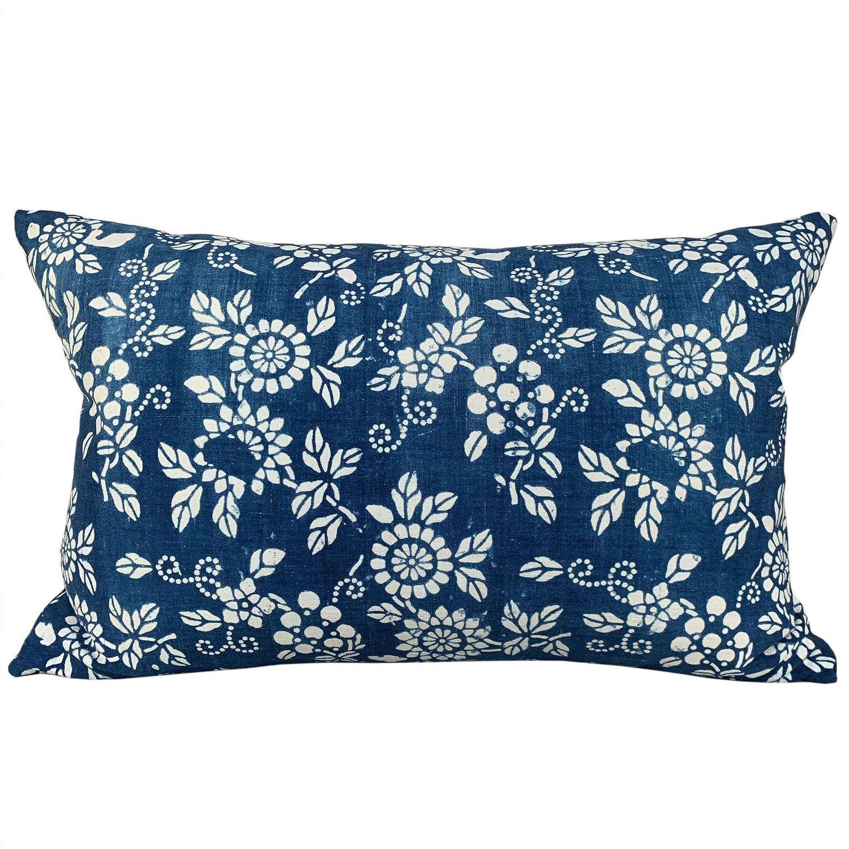Indigo resist cushions