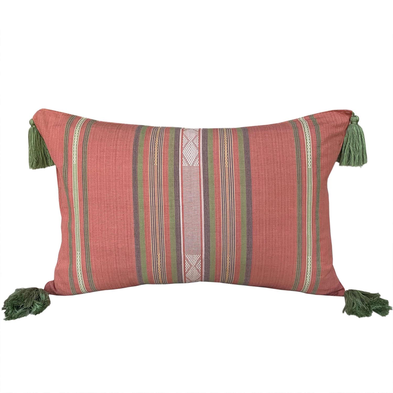 Lombok songket cushions - pink