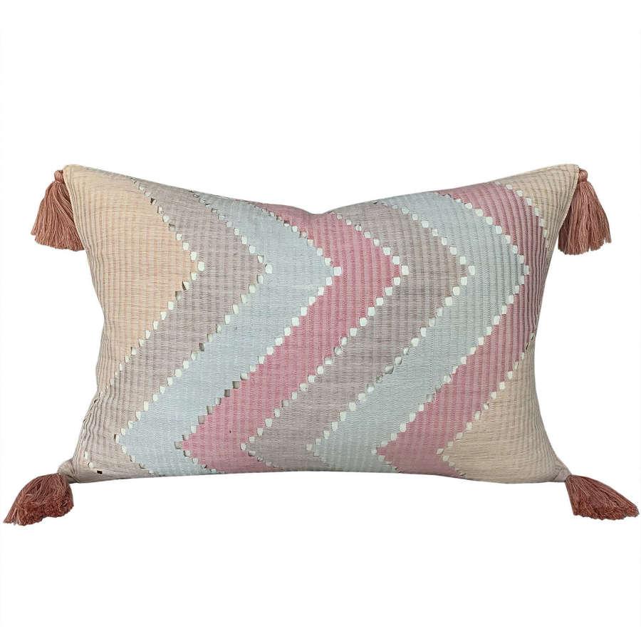 Rang rang cushions with pink tassels