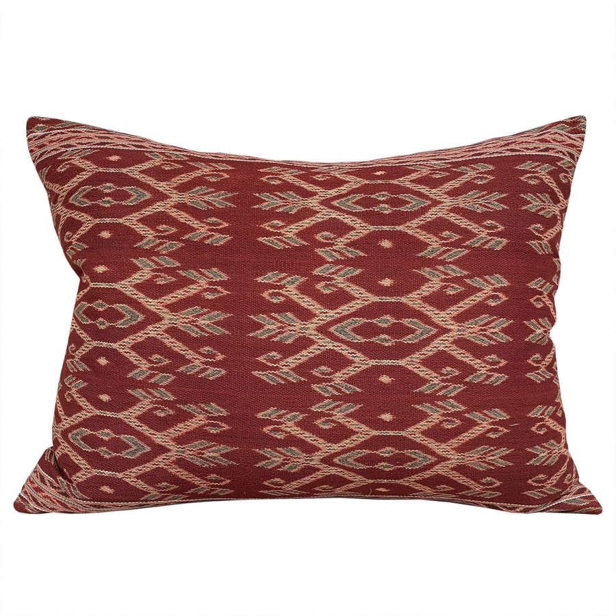 Large Timor ikat cushion