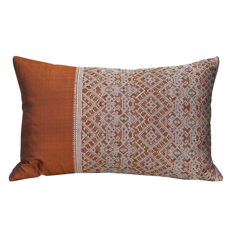 Laos silk brocade cushions