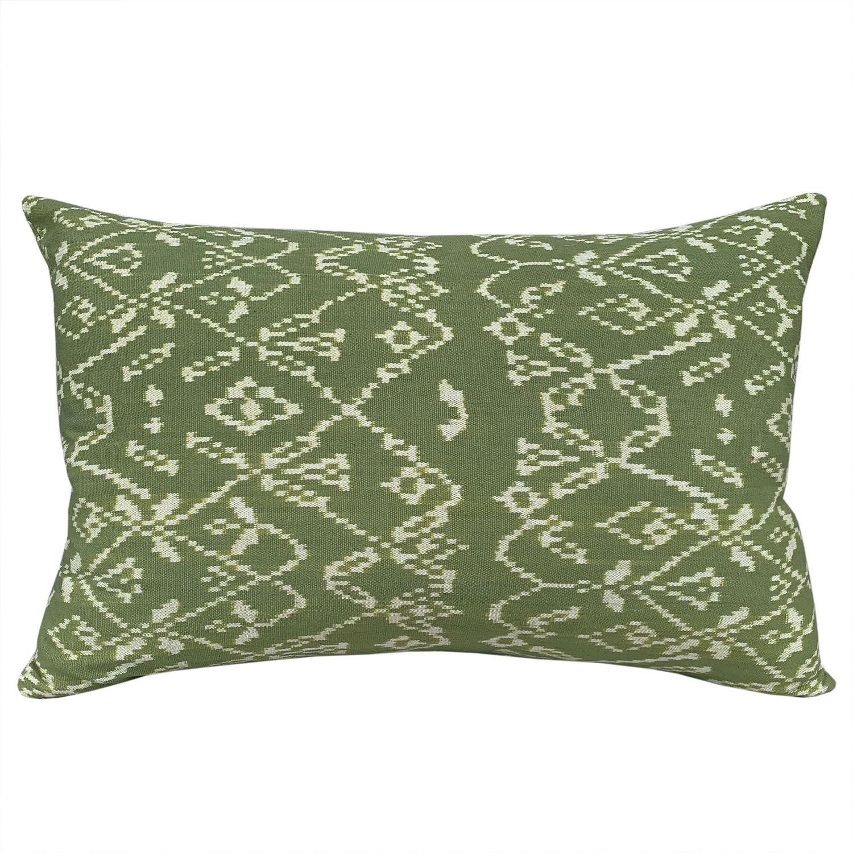 Rote ikat cushions - green