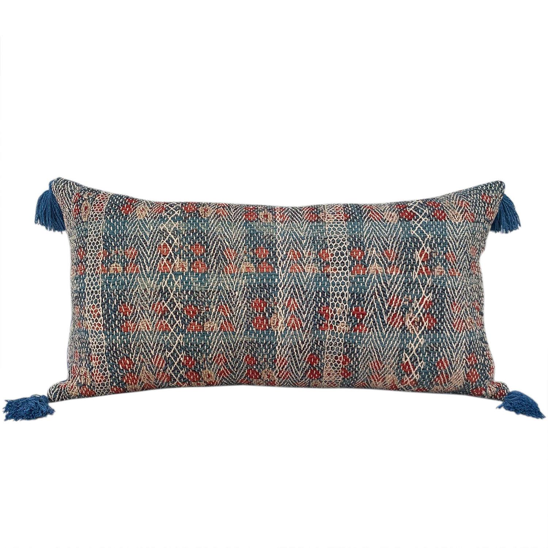 Banjara cushion with tassels