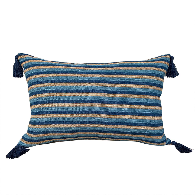 Dong indigo striped cushions