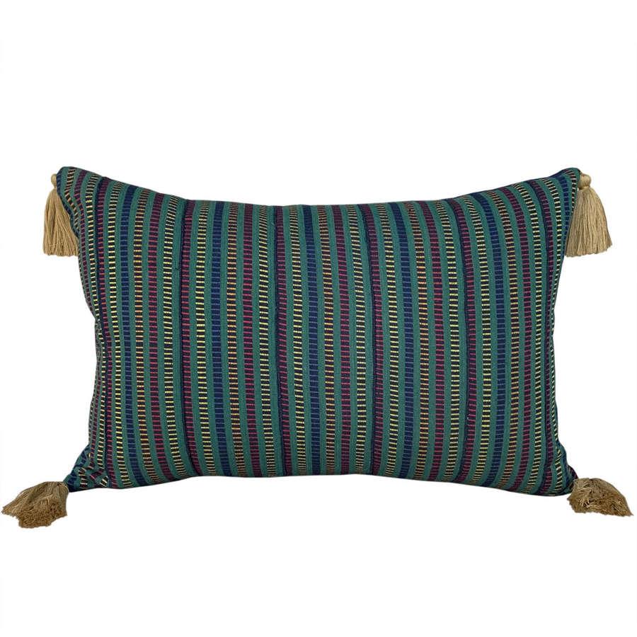 Green Ewe cushions with tassels