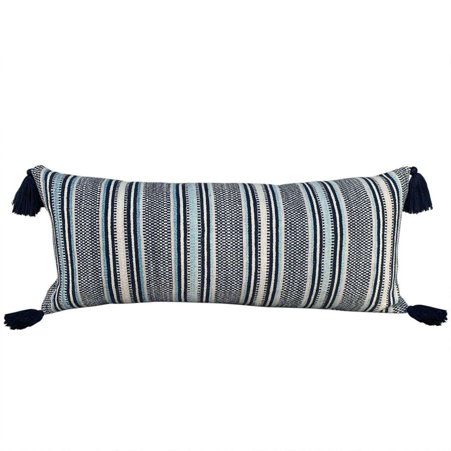 Stripey Zhuang cushions with tassels