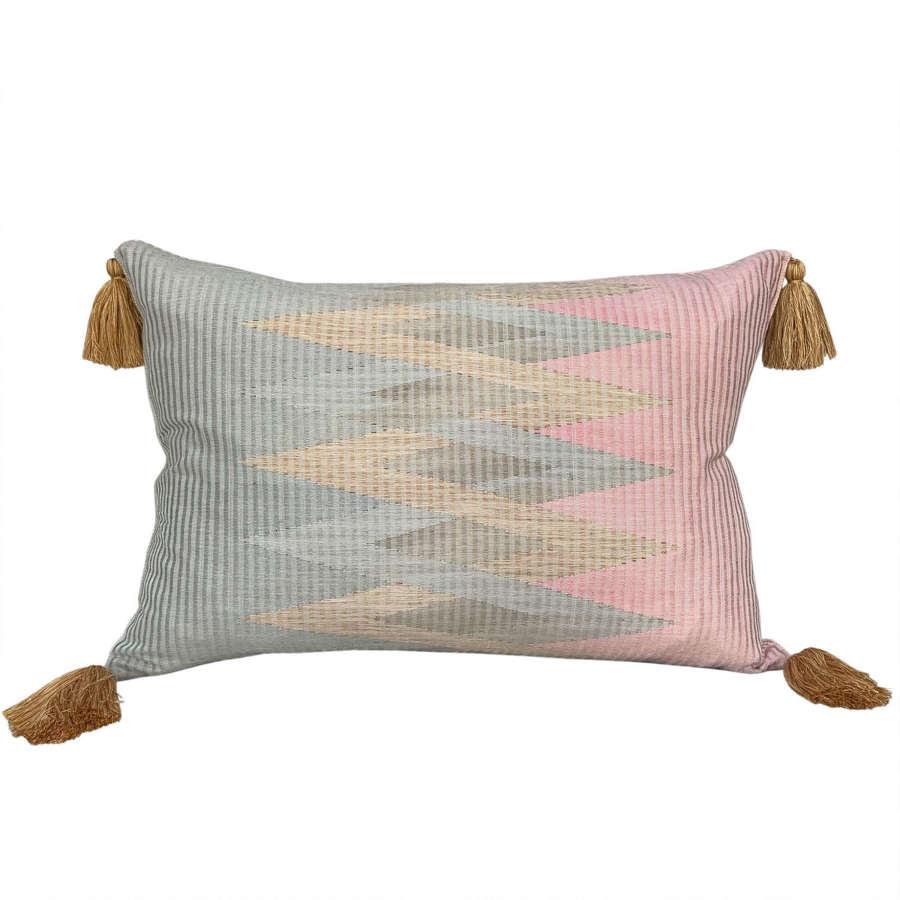 Rang rang cushions with gold tassels