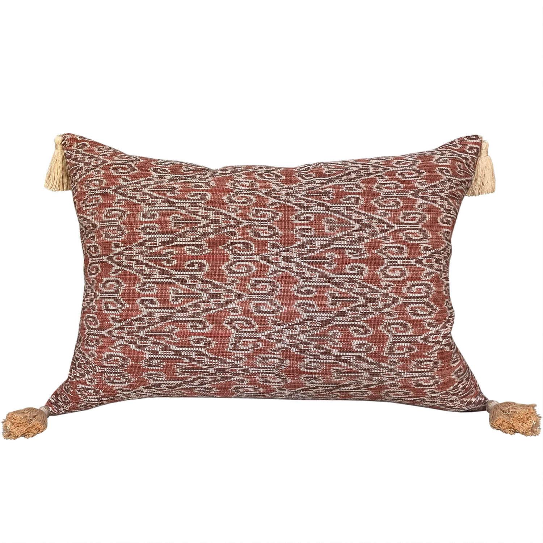 Dayak cushions with tassels