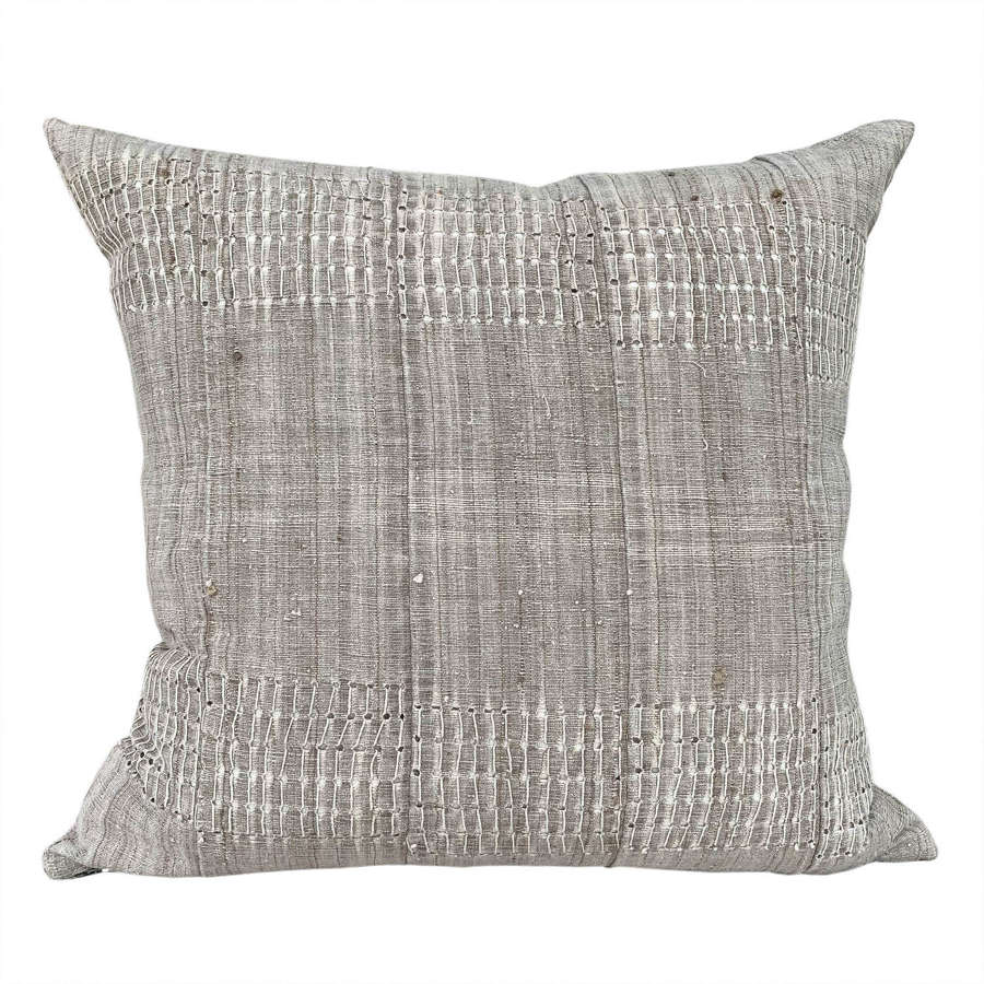Greige Yoruba cushions