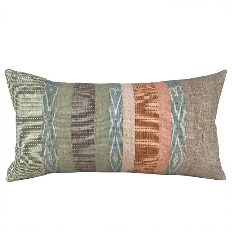 Long Flores ikat cushion