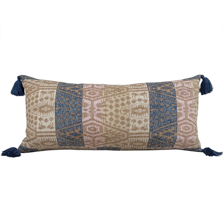 Large Dai cushion with tassels